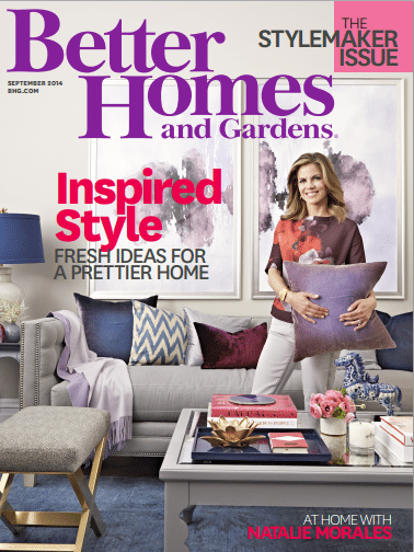 Natalie Morales Better Homes & Garden September 2014 cover