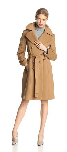 Anne Klein Coat, Double Breasted Coat, Cashmere Coat