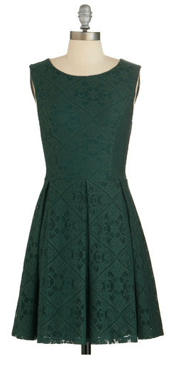 Emerald Dress, modcloth dress, fall dress, fall fashion