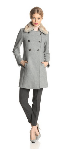 Jessica Simpson Coat, Women's Coat, Grey Wool Coat, Women's Coats