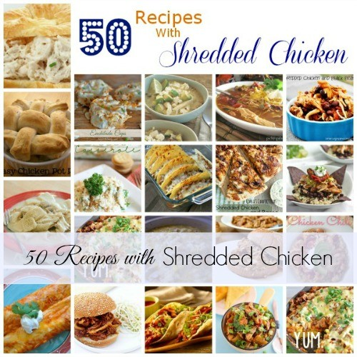 These 50 recipes with shredded chicken will help you have dinner on the table in no time.