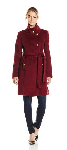 T Tahari Coats, Military Inspired Coats, Women's Coats, Burgundy Coat