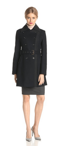 wool women's coat, military inspired coat, tommy hilfiger coats