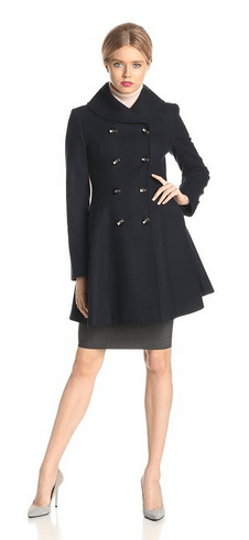 Double Breasted Women's Coat, Via Spiga Coat, Skating Boat, Women's Coats