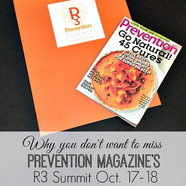 A few reasons why you should attend the Prevention R3 Summit. Plus a wrap up of our preview dinner...on the blog. @preventionmag #r3summit