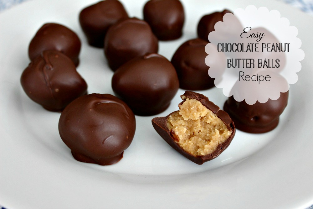 Chocolate peanut butter balls recipes for Simple peanut butter dessert recipes
