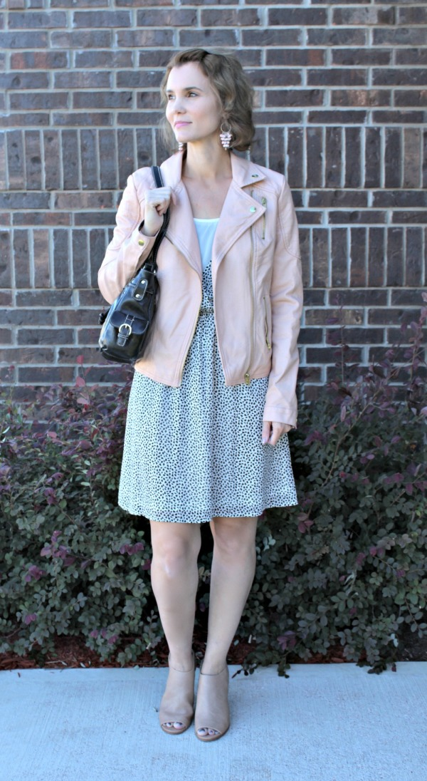 Pink Leather Jacket Outfit Ideas 02