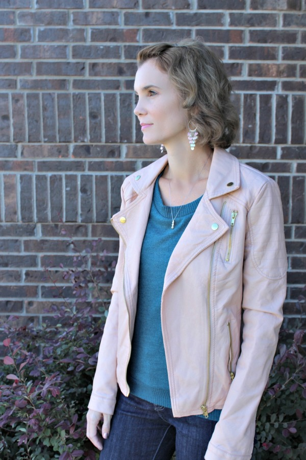 Pink Leather Jacket Outfit Ideas 06