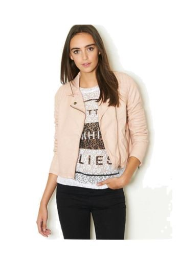 Pink Leather Jacket Outfit Ideas 08