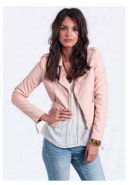 Pink Leather Jacket Outfit Ideas 09