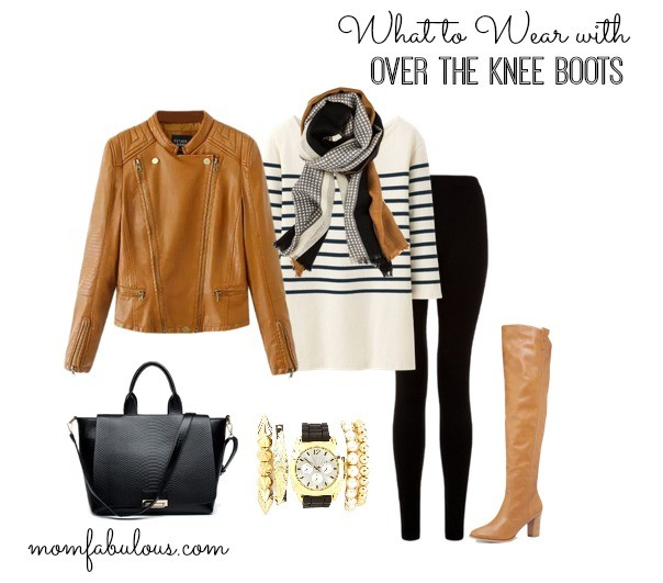 Really cute outfit ideas featuring over the knee boots. If you've been wanting a pair, but you don't know what to wear them with, these outfit ideas will help! | Mom Fabuous