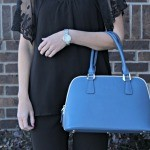 Cute Outfit Idea: All Black and A Pop of Blue (Plus a Giveaway!)