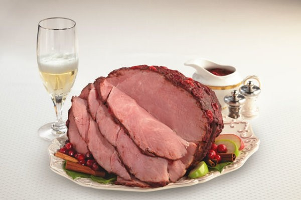Double Glazed Champagne Cranberry Ham Recipe