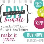 The Ultimate DIY Bundle: $1200+ Value of DIY eBooks, eCourses and Bonuses for Only $34.95