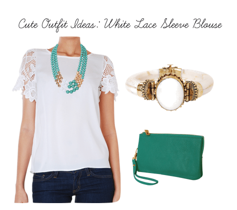 humble chic new york lace sleeve blouse