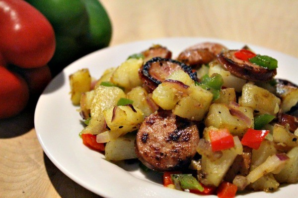 smoked sausage and potato hash recipe 03