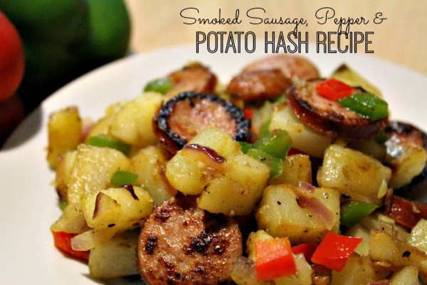 Smoked Sausage, Pepper and Potato Hash Recipe