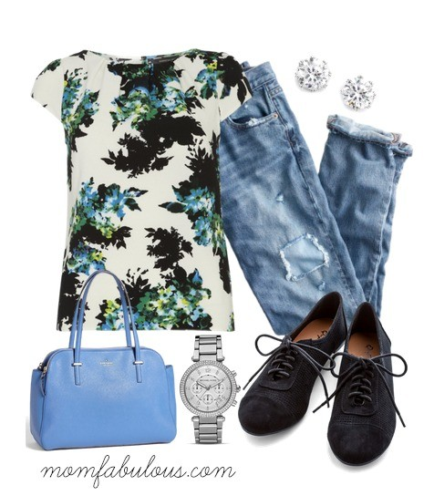 cute outfit ideas floral top