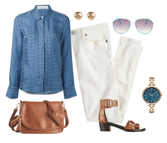 spring outfits with gingham 01