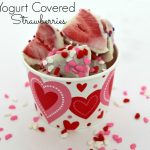 Valentine's Day Snack Idea — Yogurt Covered Strawberries