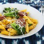 Quick Dinner Ideas: Smoked Sausage & Pasta with Broccoli