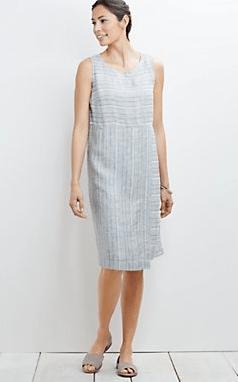 J Jill linen wrap dress