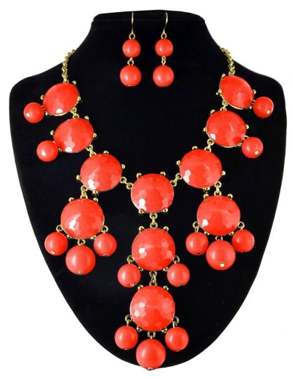 bubble necklace orange