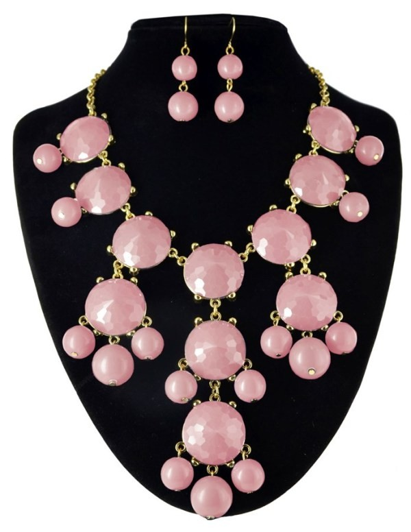 bubble necklace ppink