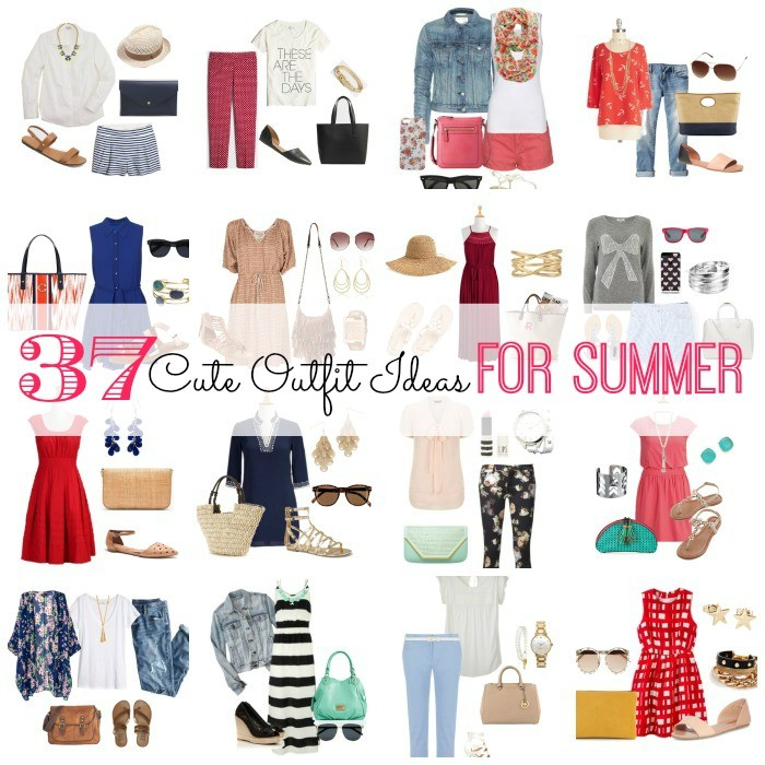 Do you need some cute outfit ideas for summer? Here are 37 of them! From casual outfits for a picnic and outfit ideas for work, to shorts to beat the heat and summer dresses worth swooning over. My favorites are the boho inspired outfits. Have fun browsing and shopping these looks!