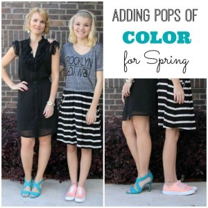 Adding a Pop of Color to Your Spring Outfits – Mother/Daughter Edition