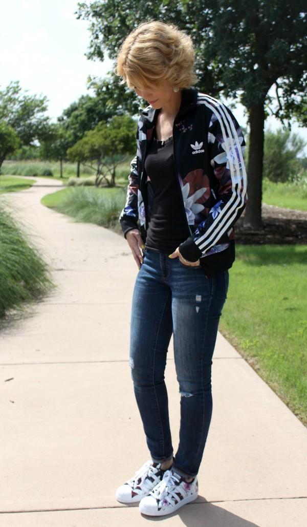 adidas flower jacket