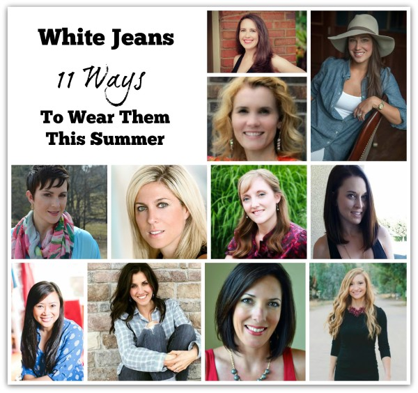 white jeans outfit summer