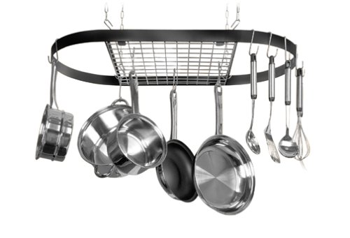 ceiling mounted pot rack
