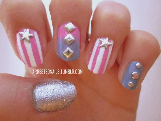 Fourth of July Nails-07