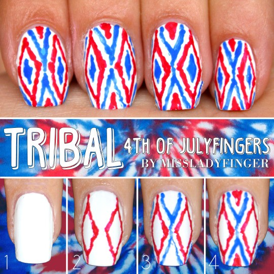 Fourth of July Nails-08