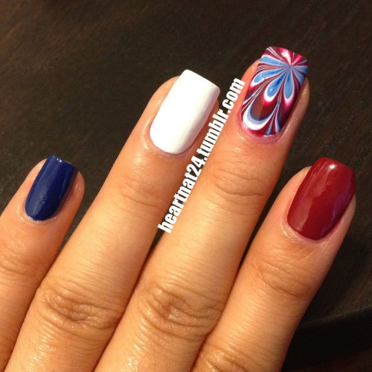 Fourth of July Nails-10