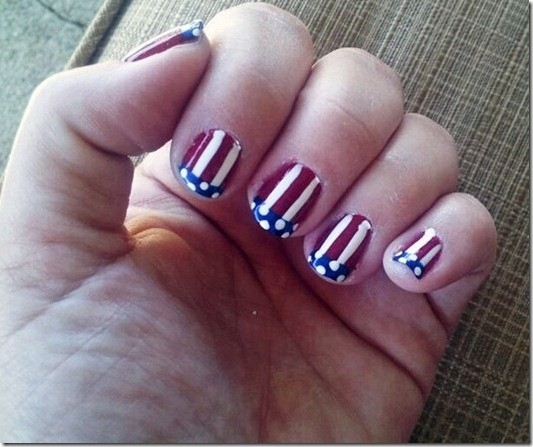 Fourth of July Nails-12