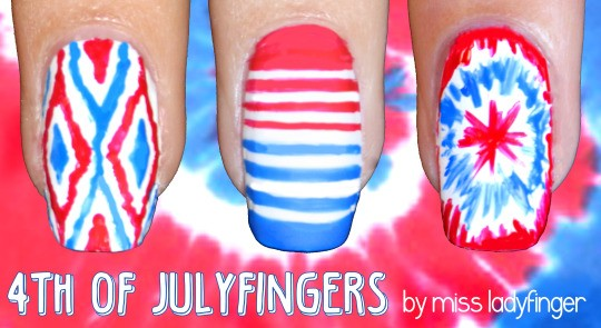 Fourth of July Nails-14