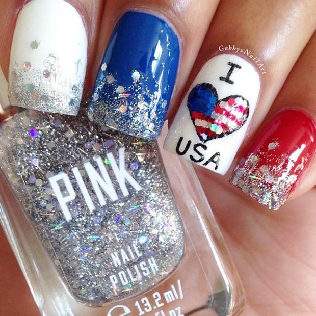 Fourth of July Nails-15