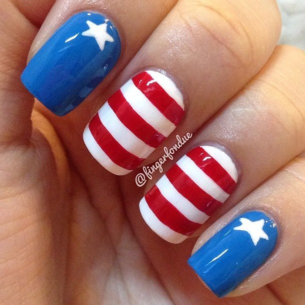 Fourth of July Nails-16