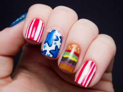 Fourth of July Nails-22
