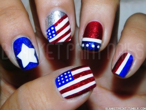 Fourth of July Nails-23