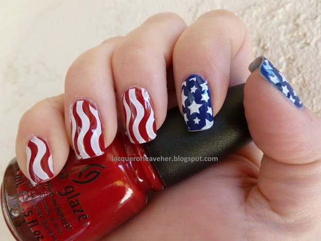 Fourth of July Nails-24