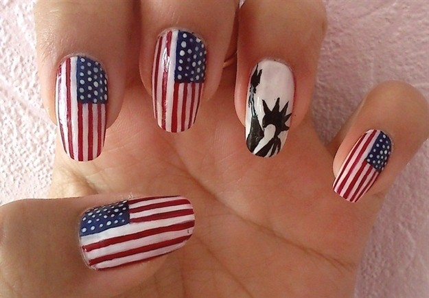Fourth of July Nails-25