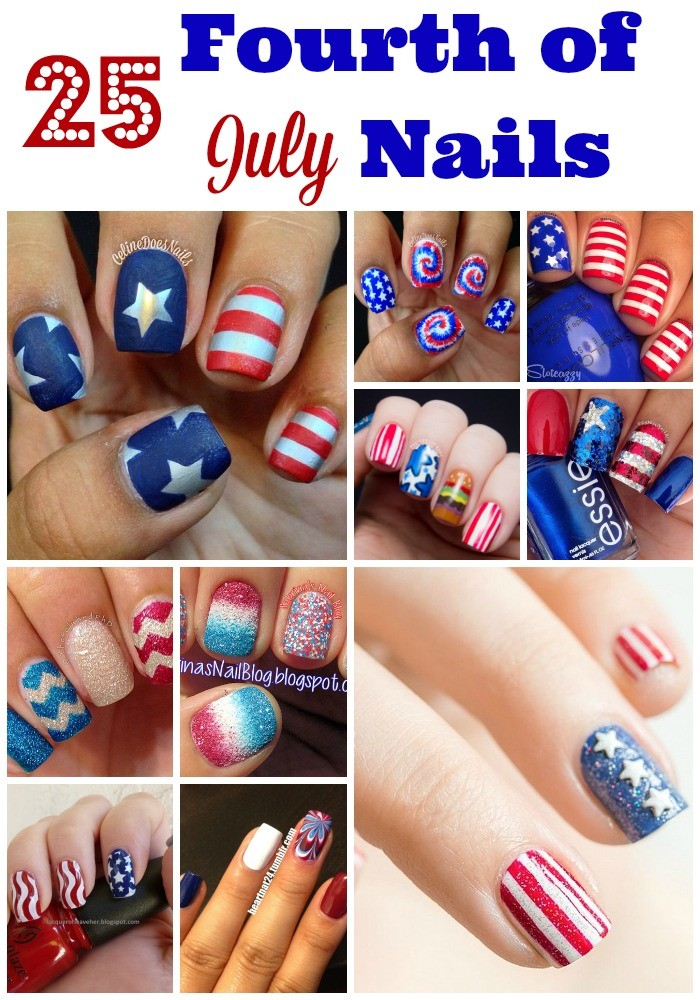 Fourth of July Nails-27