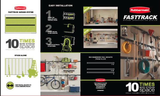 Garage organization diy fasttrack system