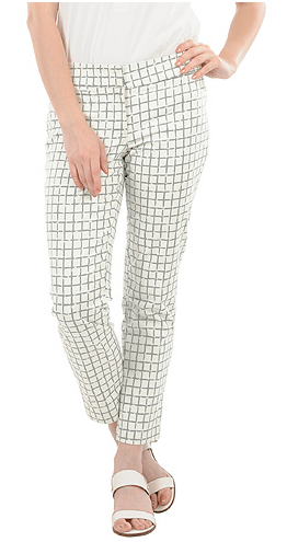 check print ankle pants