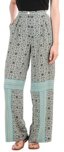 crepe pleated pants