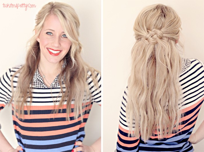 Looking for some easy half up half down hairstyles? This look is perfect for events, weddings or even an every day casual look. Check out the different ways to wear this look & then try it on yourself!