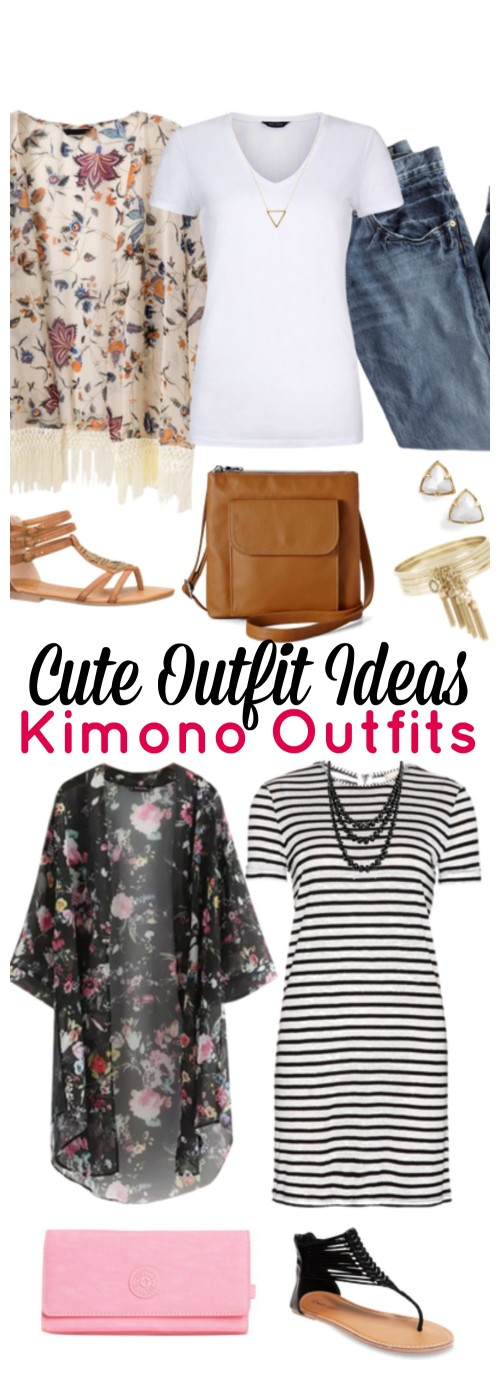 Today's cute outfit ideas of the week is all about one of my favorite articles of clothing: a kimono! Come see all of the super cute kimono outfits perfect for a summer day or night out. You'll find floral kimonos and more that you can wear with dresses, jeans and shorts. When I feel like my outfit is missing something or I need to step up my game for a night out, a kimono is the answer. Click through to see all of the cute outfit ideas!